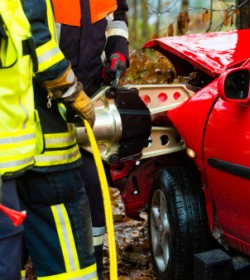 Atlanta crush injury lawyer can help the car accident victim these emergency responders are assisting.