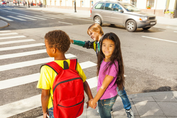 If these children walking on a crosswalk are hit by a car, they'll need an Atlanta pedestrian accident attorney